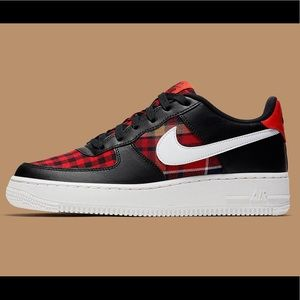 Nike Air force 1 Habanero red flannel NWT